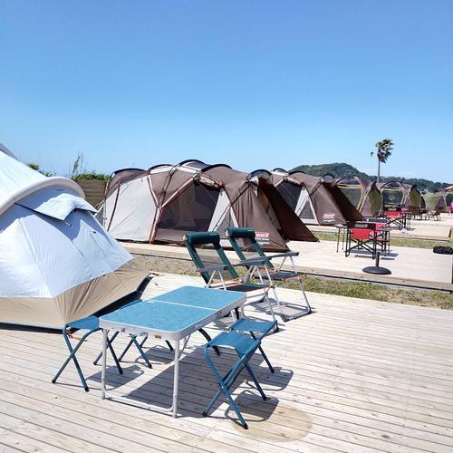 手ぶらキャンプ/常設ウッドデッキサイト