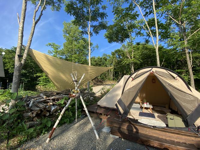 手ぶらテントサイトプラン(カマボコタイプ)
